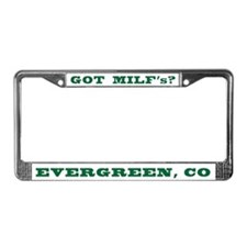 Cute Evergreen colorado License Plate Frame