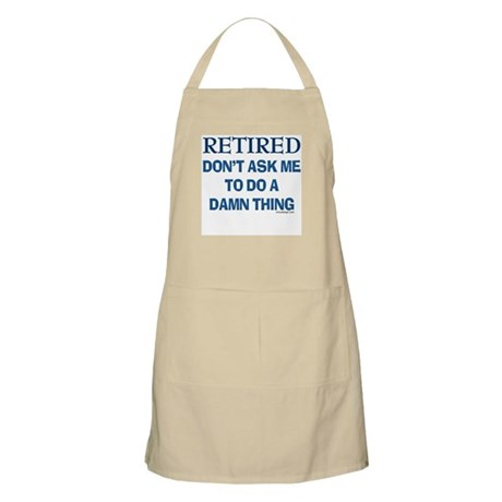 Retired Humor BBQ Apron