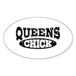 Queens Chick Sticker (Oval)