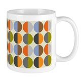 Split Circle Small Mug in soft oranges and blues