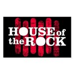 """House of the Rock"" Logo Sticker (Rectan"