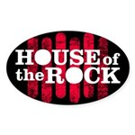 """House of the Rock"" Logo Sticker (Oval)"