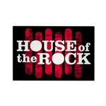 """House of the Rock"" Logo Rectangle Magne"