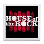 """House of the Rock"" Logo Tile Coaster"