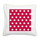 Cute Polka dots Square Canvas Pillow