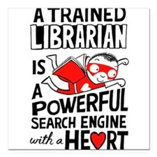"Super Librarian Square Car Magnet 3"" x 3"""