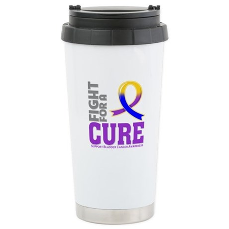 Bladder Cancer Fight For A Cure Ceramic Travel Mug