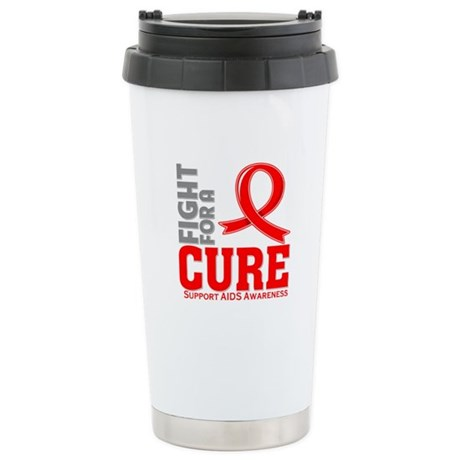 AIDS Fight For A Cure Ceramic Travel Mug