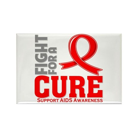 AIDS Fight For A Cure Rectangle Magnet