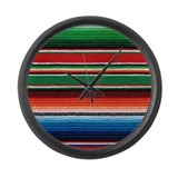 Mexican Serape Large Wall Clock