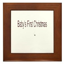 Baby's First Christmas Framed Tile