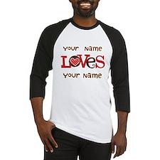 Personalized Love Baseball Jersey