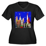 Philadelphia Starry Night Women's Plus Size V-Neck