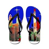 Philadelphia Starry Night Flip Flops