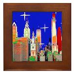 Philadelphia Starry Night Framed Tile