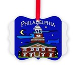 Philadelphia Starry Night Picture Ornament