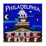 Philadelphia Starry Night Tile Coaster
