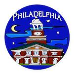 Philadelphia Starry Night Round Car Magnet