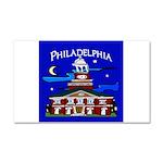 Philadelphia Starry Night Car Magnet 20 x 12