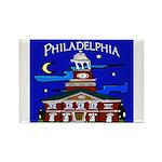 Philadelphia Starry Night Rectangle Magnet
