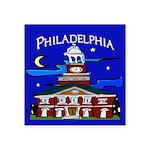 Philadelphia Starry Night Square Sticker 3