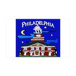 Philadelphia Starry Night 35x21 Wall Decal