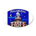 Philadelphia Starry Night 20x12 Oval Wall Decal