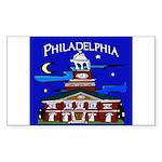 Philadelphia Starry Night Sticker (Rectangle 10 pk