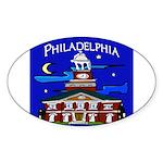 Philadelphia Starry Night Sticker (Oval 50 pk)