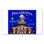 Philadelphia Starry Night Sticker (Rectangle)
