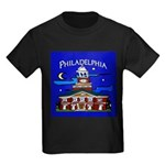 Philadelphia Starry Night Kids Dark T-Shirt