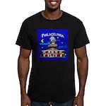 Philadelphia Starry Night Men's Fitted T-Shirt (da