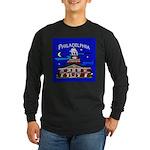 Philadelphia Starry Night Long Sleeve Dark T-Shirt
