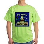 Philadelphia Starry Night Green T-Shirt