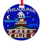 Philadelphia Starry Night Round Ornament