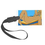 Reclined Nude at Beach Large Luggage Tag