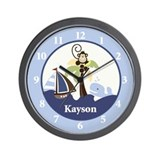 Ahoy Mate Monkey and Whale Clock - Kayson