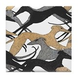 Cute Greyhound Tile Coaster