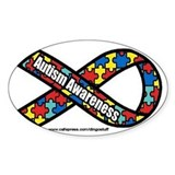 """Autism Ribbon"" Rectangle  Aufkleber"