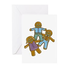 Gingerbread Men Greeting Cards (Pk of 10)