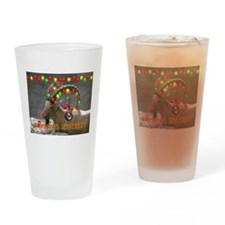 Helaine's Rudolph the What? Drinking Glass