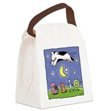 cowovermoon1.jpg Canvas Lunch Bag