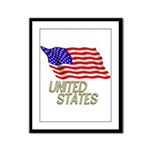 Flag of US e3 Framed Panel Print