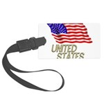 Flag of US e3 Large Luggage Tag