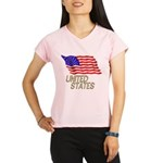 Flag of US e3 Performance Dry T-Shirt
