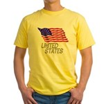 Flag of US e3 Yellow T-Shirt