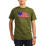 Flag of US e3 Organic Men's T-Shirt (dark)
