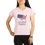 US flag map e3 Performance Dry T-Shirt