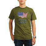 US flag map e3 Organic Men's T-Shirt (dark)