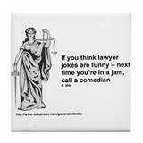 Cute Lawyer Tile Coaster